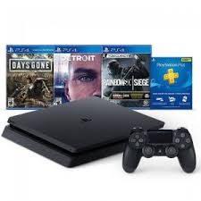 PlayStation 4 (PS4) Slim 1TB with 3Month PSN Subscription and 3 Games Bundle
