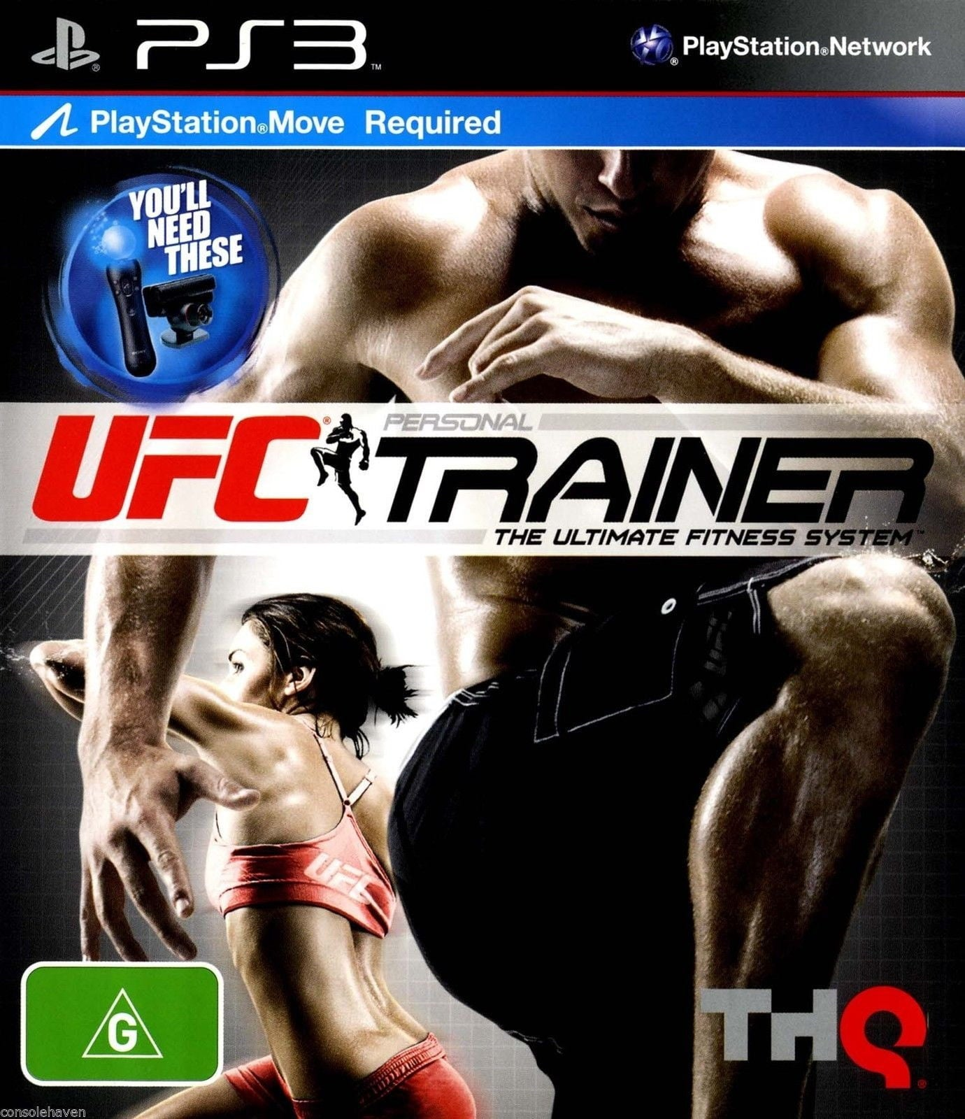 UFC Personal trainer includes leg strap PS3 Game - Shamy Stores