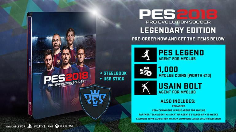 Buy Pes 18 legendary (AR) (PS4) PS4 Game in Egypt - Shamy Stores