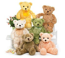 "Kohair Bear 12"" Assorted Colors"