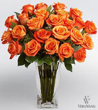 Long Stem Orange Rose Bouquet
