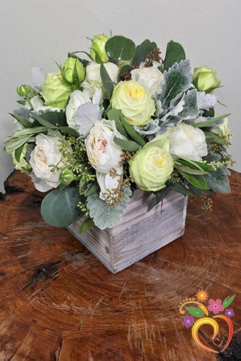 White Garden Greens Bouquet