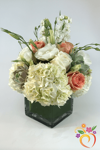 White Peach Bouquet
