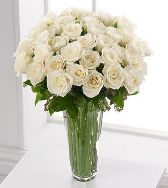 White Rose Bouquet - 36 Stems Bouquet