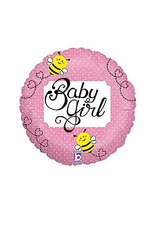 Baby Girl 18' Mylar Balloon