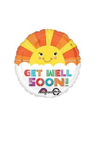 Get Well Sun Mylar Balloon