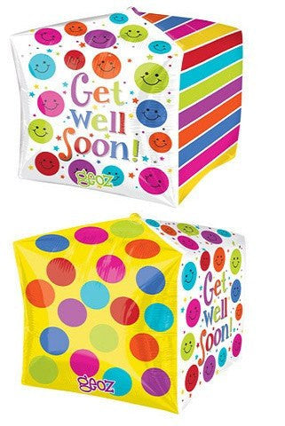 Get Well Soon Cubez Balloon