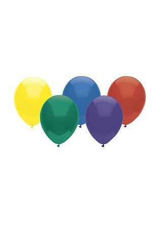 Five Assorted Latex Balloons