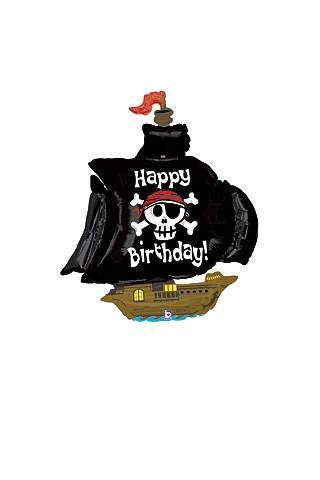 "Happy Birthday Pirate Ship 46"" Mylar Balloon"