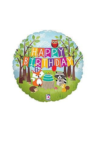 Happy Birthday Critters Mylar Balloon