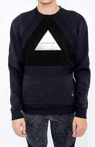 BLACKOUT TRIANGLE WITH RIB SWEATSHIRTS