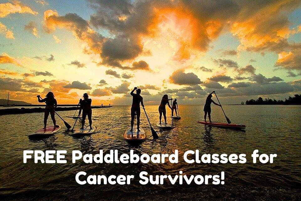 free paddle board classes for cancer survivors