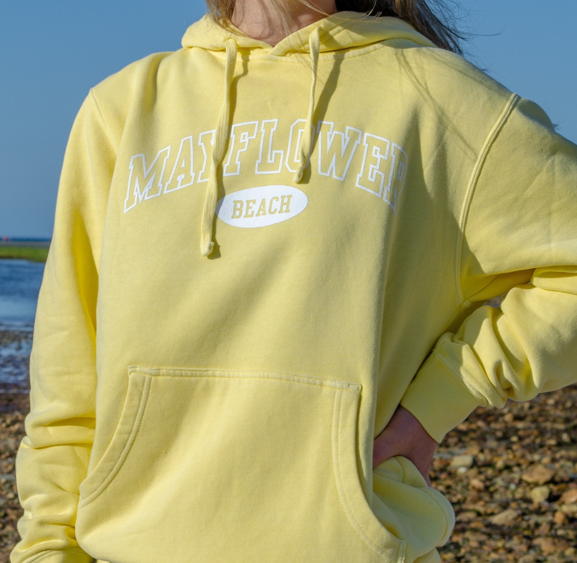 Mayflower Beach Hoodie - Lemon