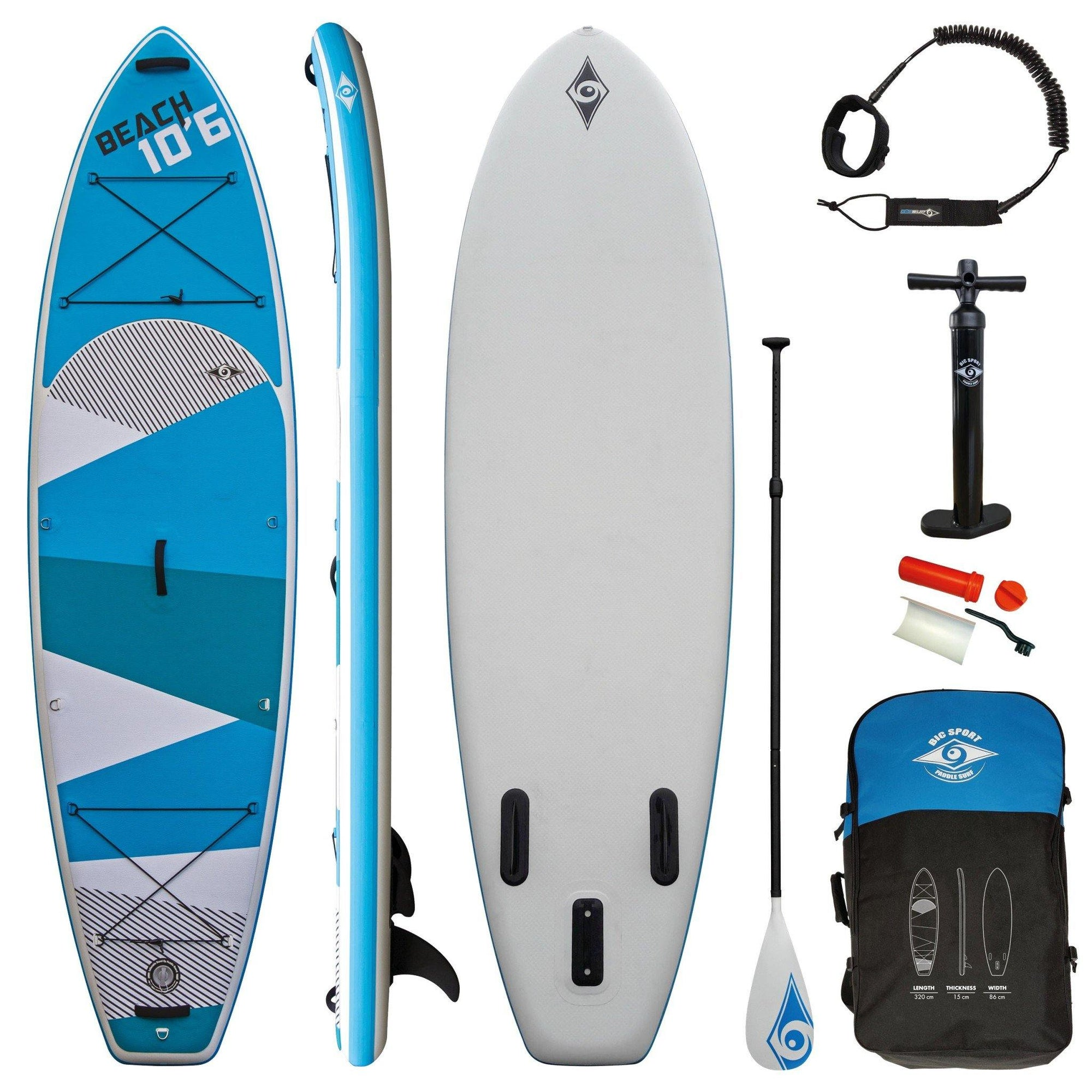10'6 SUP AIR BEACH PACK X 34""