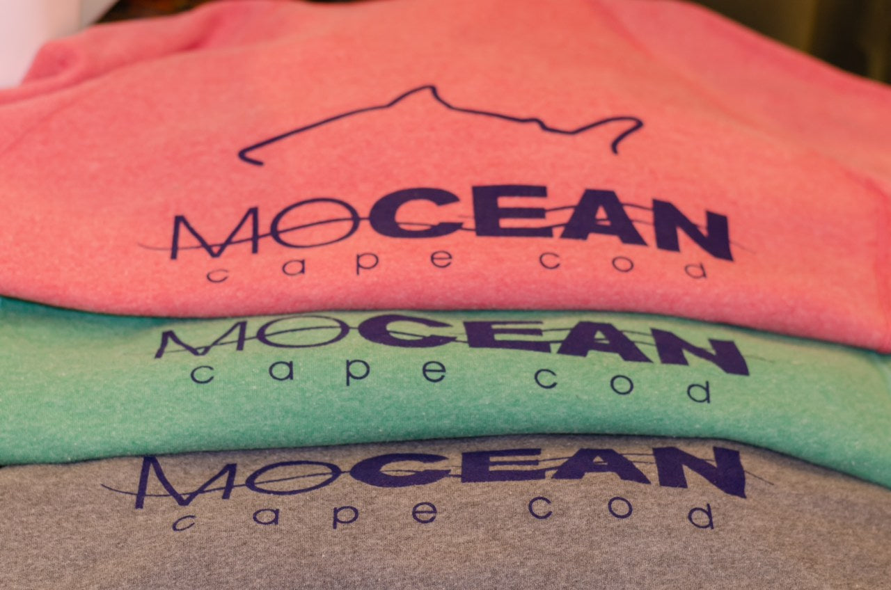 MOCEAN Shark Outline Logo Long Sleeve Tee