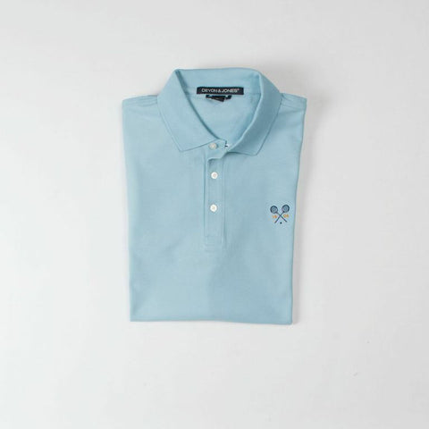 Light Blue Cross Racquets Polo