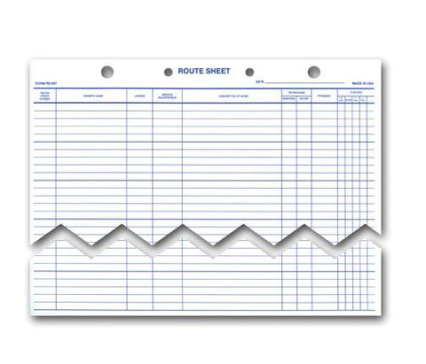 Route Sheets/Appointments - Form #RS-547 - flywheelnw.com
