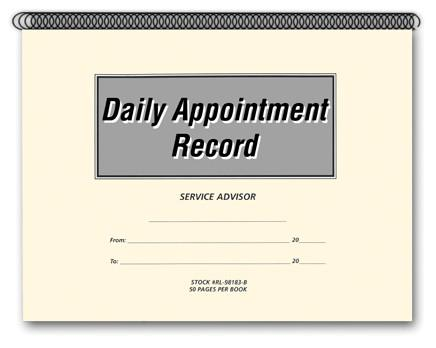 Daily Appointment Record Book - flywheelnw.com