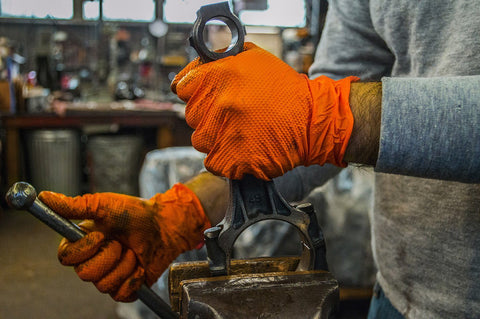 Premium Heavy Duty Orange Nitrile Gloves (Powder Free) (8 mil) - flywheelnw.com