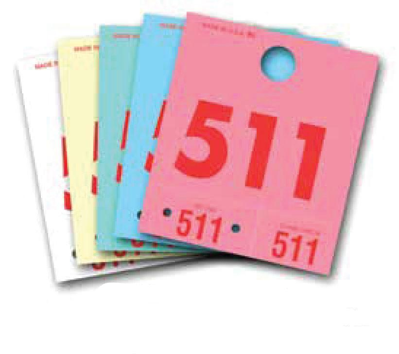 Colored Dispatch Numbers & Key Tags - flywheelnw.com