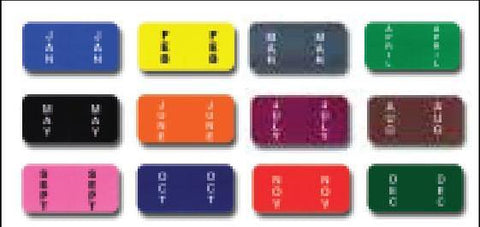 File Right Color-Code Month Labels - Ringbook - Full Set (Jan - Dec) - flywheelnw.com