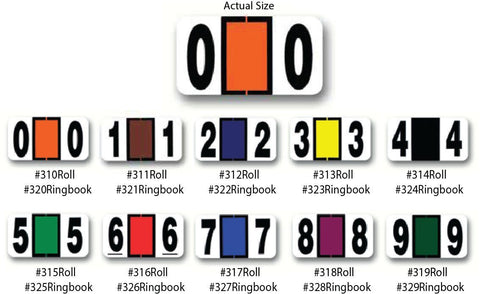 File Right Color-Code Numbers - Ringbook - flywheelnw.com