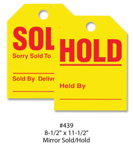 Sold/Hold Tags - Mirror - flywheelnw.com