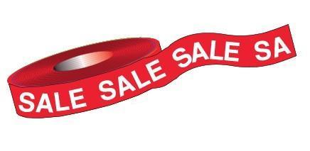 "Super Sized Sale Tape - 2-7/8"" x 1200' - flywheelnw.com"
