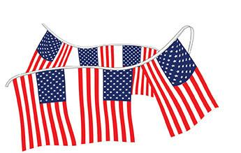 American Flag Pennants - Polyethylene - flywheelnw.com