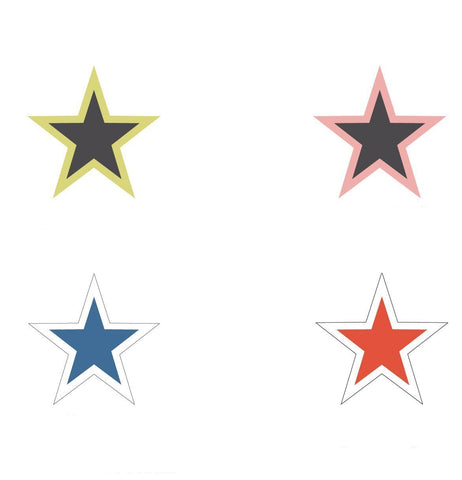 "5"" Star Window Stickers - flywheelnw.com"