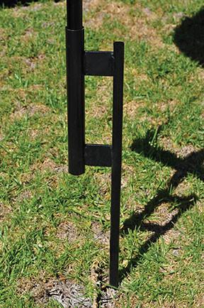Reusable Balloon Ground Pole Base - Steel Ground Spike - flywheelnw.com