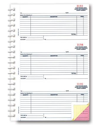 Purchase Order Books - 3-part, Short - flywheelnw.com