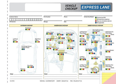 Multi-Point Inspection Forms - Generic Express Lane - flywheelnw.com