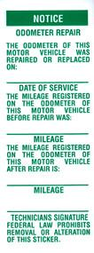 Odometer Repair Label - flywheelnw.com