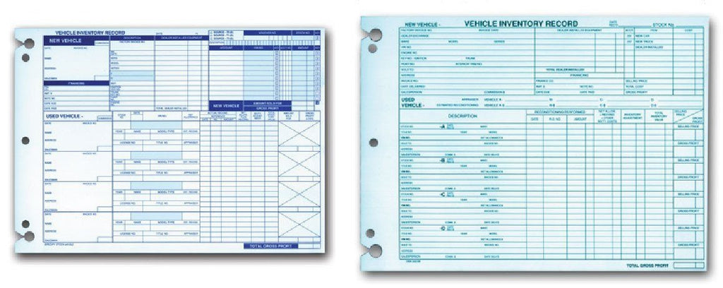 Vehicle Inventory Records 1 Sided Flywheelnw Com