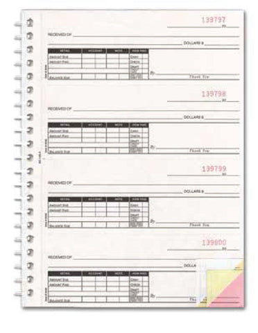 Cash Receipt Book - 3 Part - flywheelnw.com