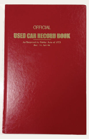 Used Car Record Book (Police Book) - flywheelnw.com