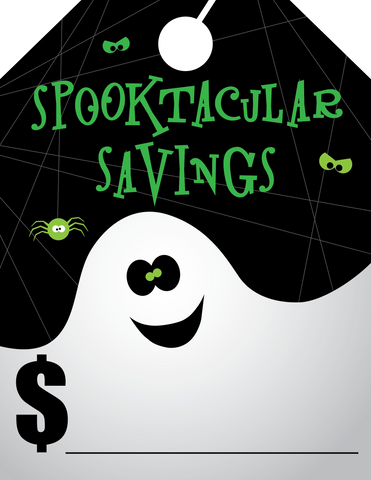 Spooktacular Savings (Ghost) - Flywheelnw.com
