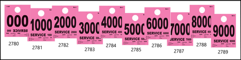 Pink Heavy Brite Dispatch Numbers