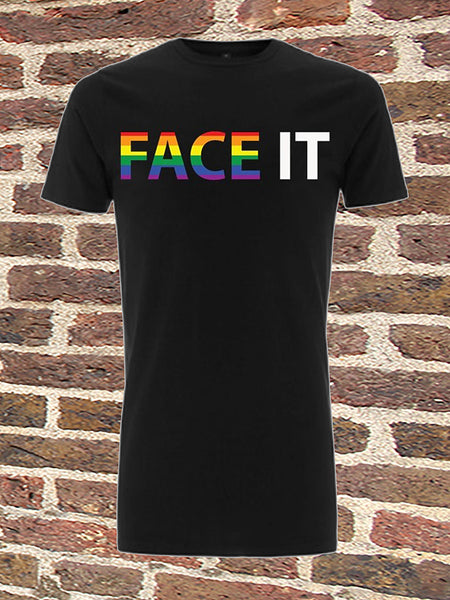 Black Long T-Shirt - Face It Pride