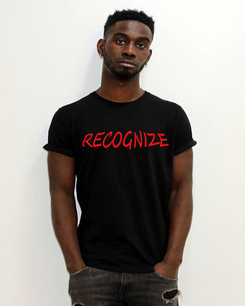 Black T-Shirt - Recognize