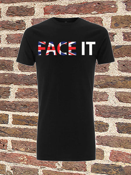 Black Long T-Shirt - Face It UK