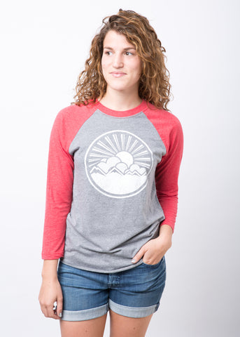 Mountain Sun Raglan Red