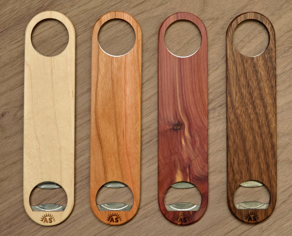 Custom Wood Bottle Openers
