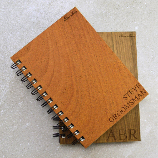 Custom Wood Groomsmen Notebooks