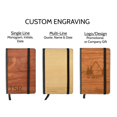 Personalized Wooden Pocket Notebook
