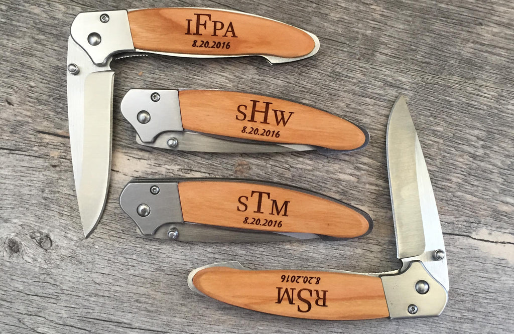 groomsmen gifts knives custom manufacturing