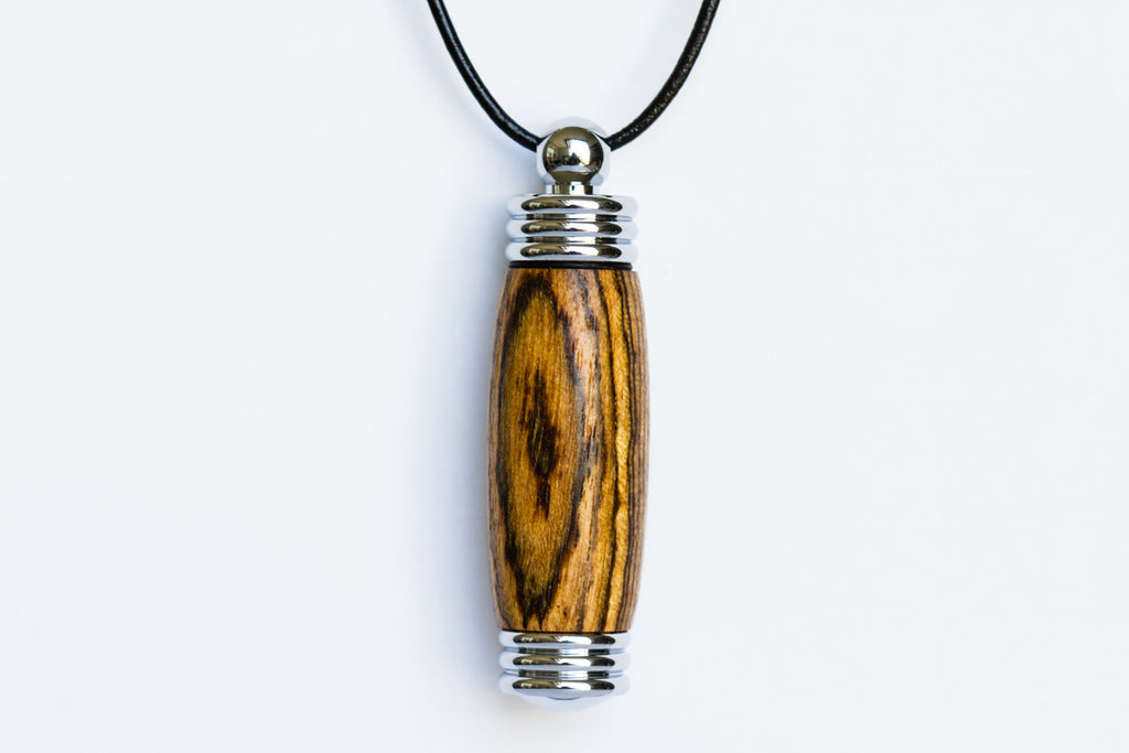 wood memorial cremation pendant