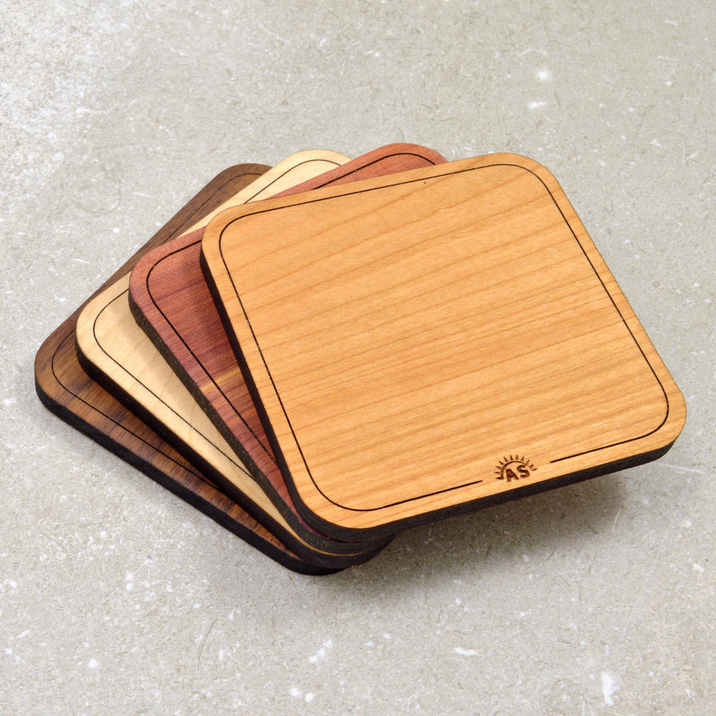 1/4 inch wooden coasters