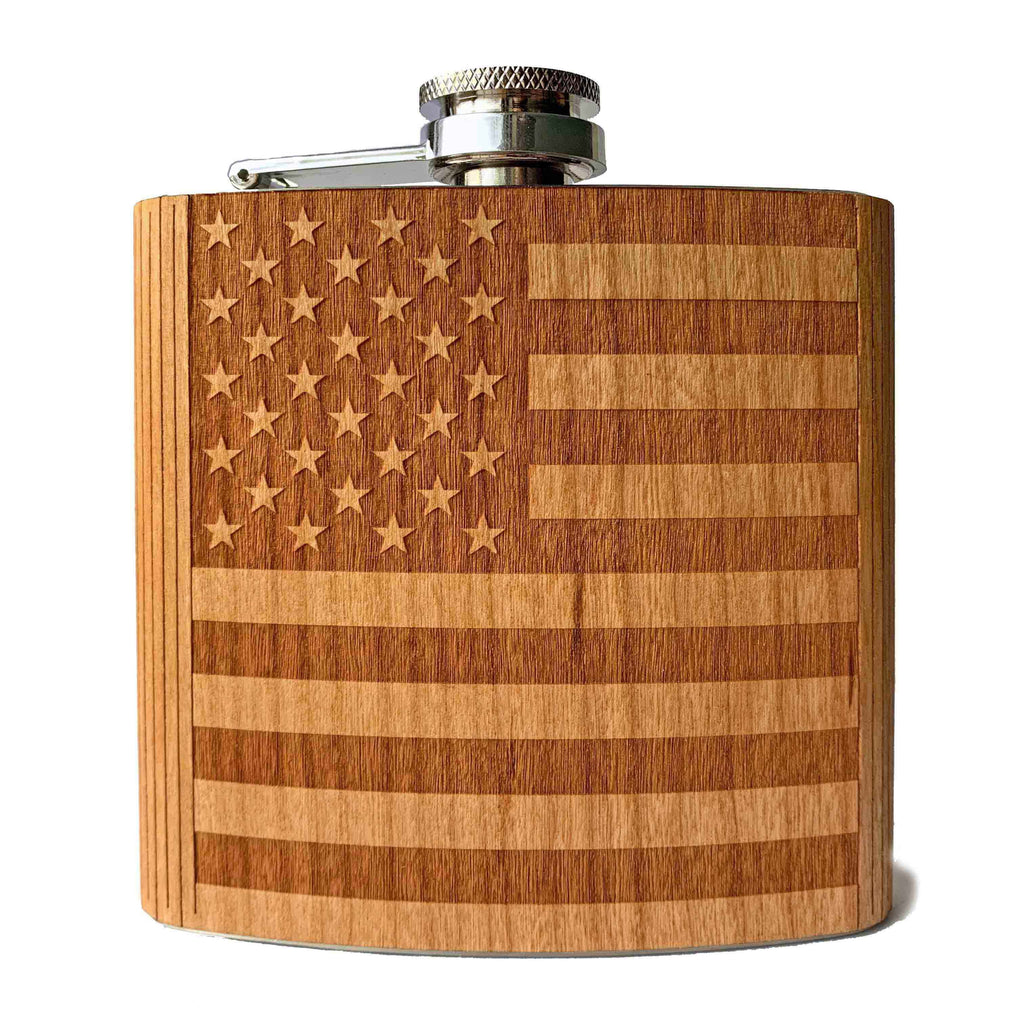 American Flag Flask - Autumn Woods Co.